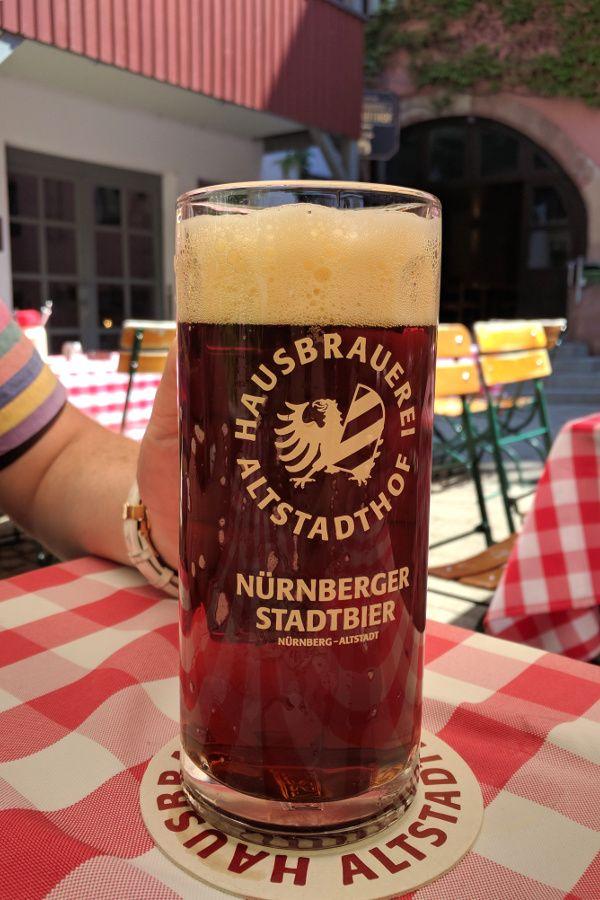 Get a taste of Nuremberg, Germany's Red Beer (Rotbier) at Hausbrauerei Altstadthof.