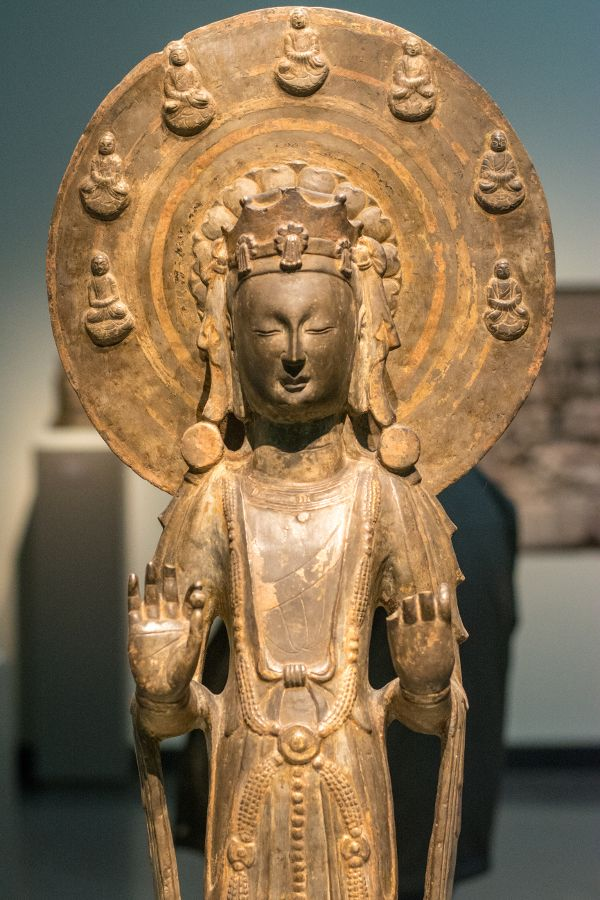 An Asian sculpture at the Freer|Sackler Galleries in Washington, DC.