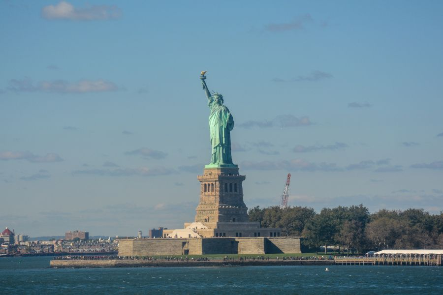 Cruising by the Statue of Liberty on the Staten Island Ferry is one of the great free things to do in New York City.