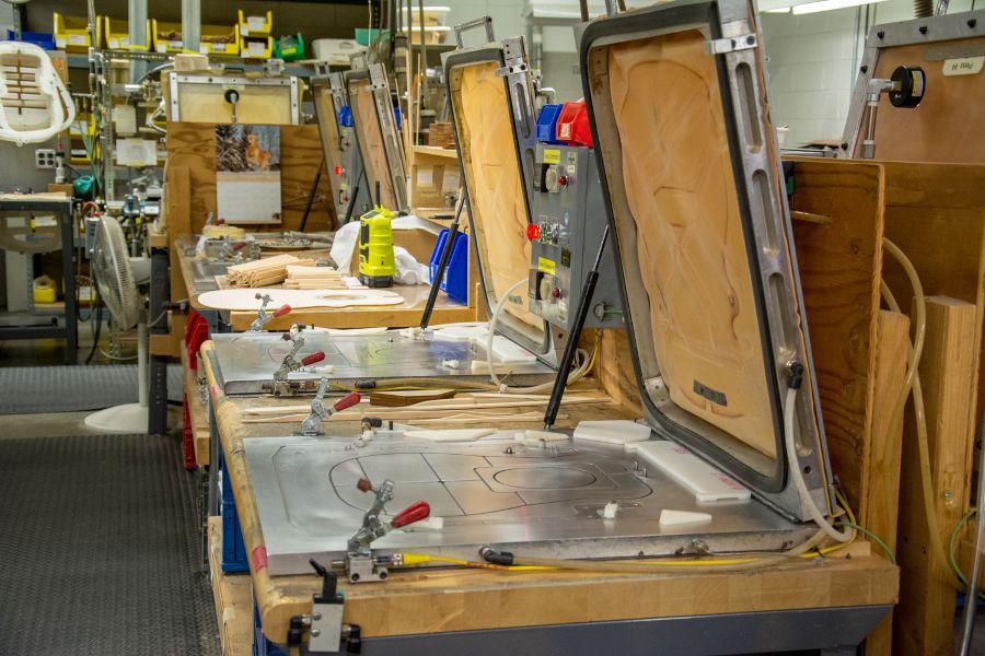 A vacuum press at the Martin Guitar factory.