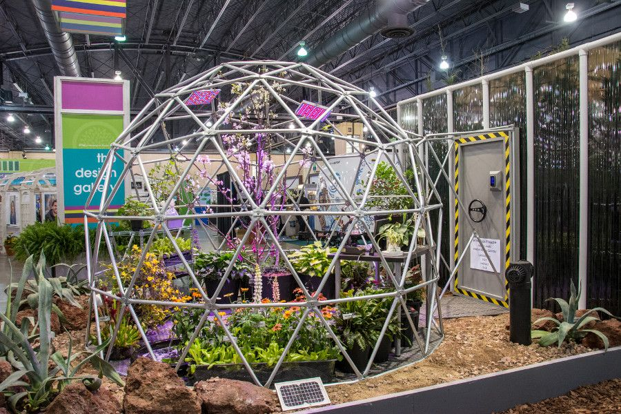 Eco display at the Philadelphia Flower Show 2018.