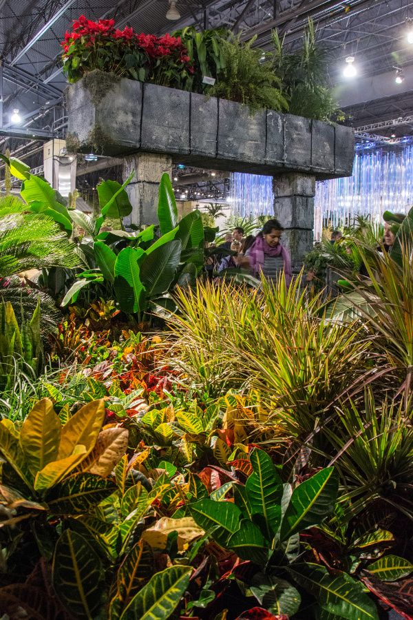 Flower ruins at the Philadelphia Flower Show 2018.