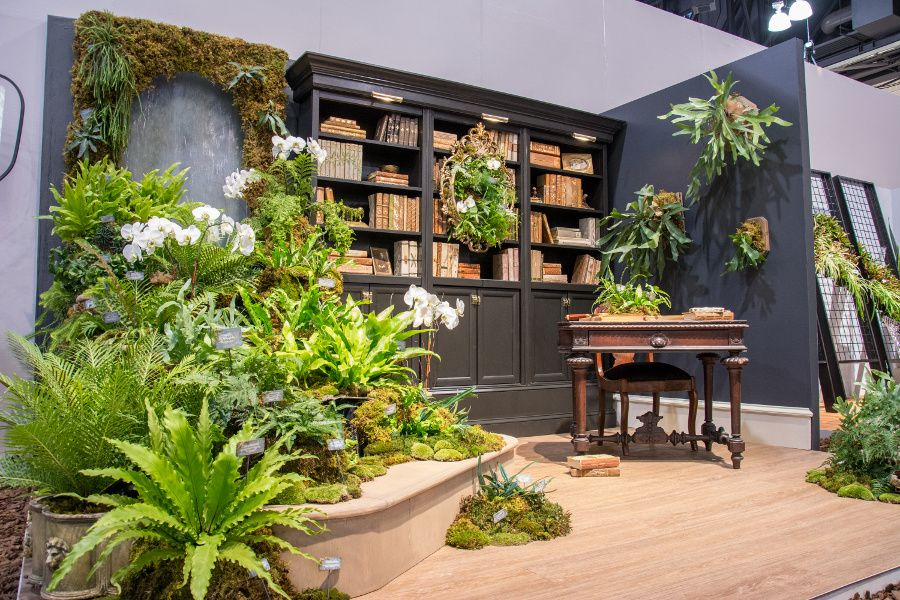 Room display on competition in the Philadelphia Flower Show 2018.