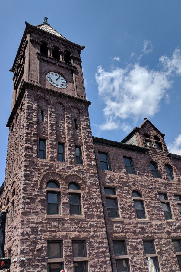 The Carbon County courthouse in Jim Thorpe, Pennsylvania.