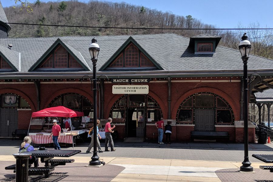 The Jim Thorpe Train Station.