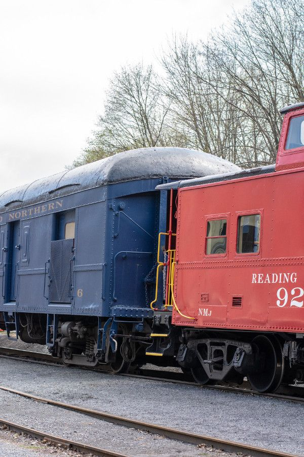 The Lehigh Gorge Scenic Railway's train car and caboose.