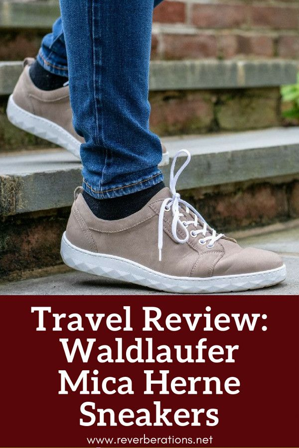 German shoe brand Waldlaufer make stylish and comfortable shoes perfect for travel and everyday. Review of Waldlaufer's Mica Herne sneakers. #review #travel #shoes