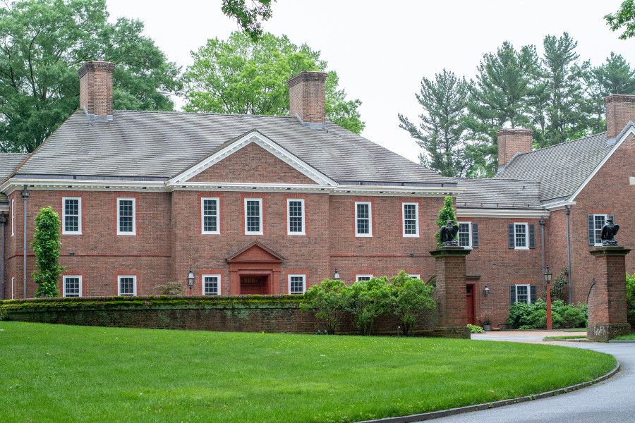 The house at Mt. Cuba Center in Delaware.