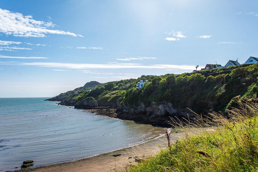 Overlooking Balscadden Bay Beach.