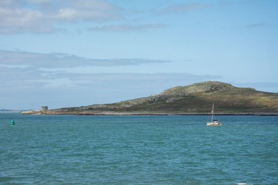 The island of Ireland's Eye, just off the coast of Ireland at Howth.