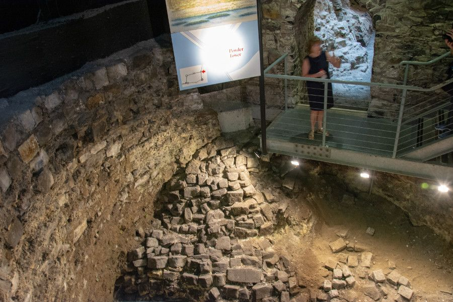 An archaeology dig beneath Dublin Castle.