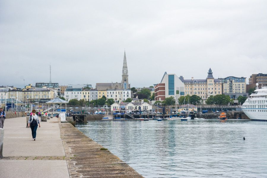 The view of the Dún Laoghaire harbor from the East Pier.