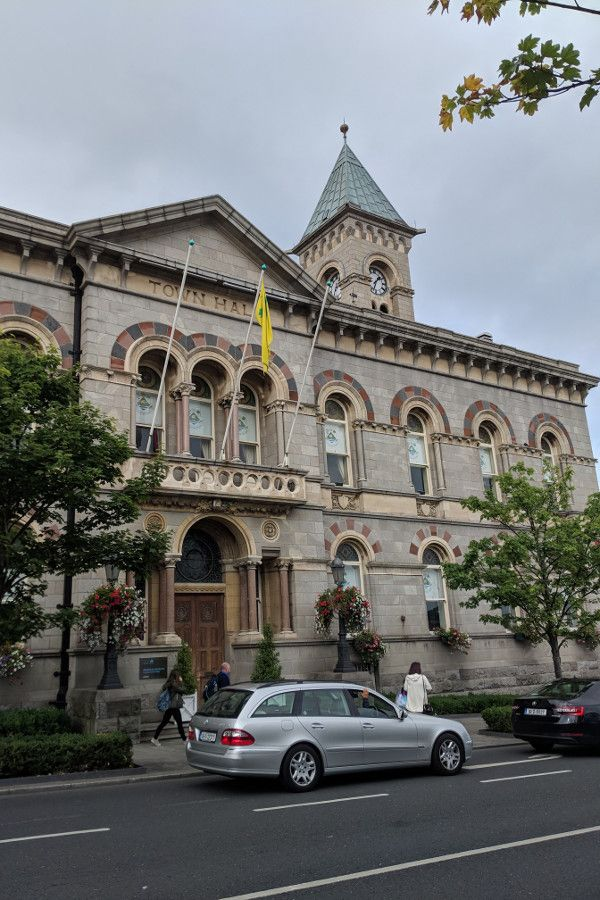 The town hall in Dún Laoghaire, Ireland.