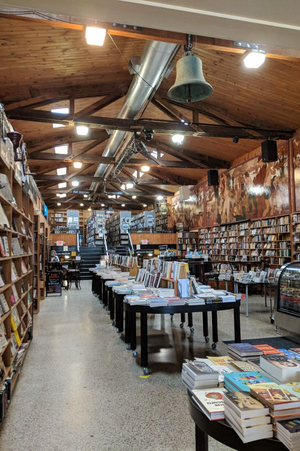 Looking inside the Midtown Scholar Bookshop in Midtown Harrisburg, Pennsylvania.