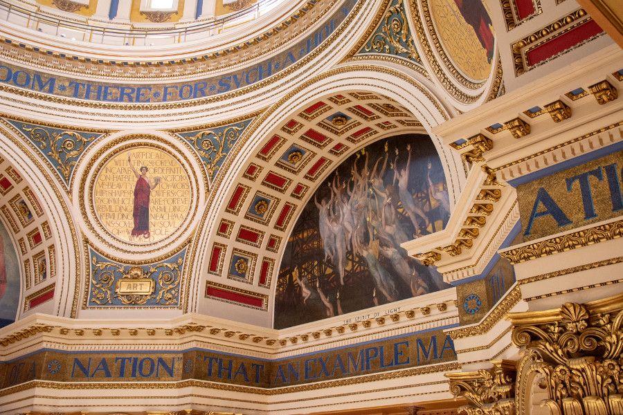 Spirit of Light painting in the Pennsylvania Capitol Building in Harrisburg.