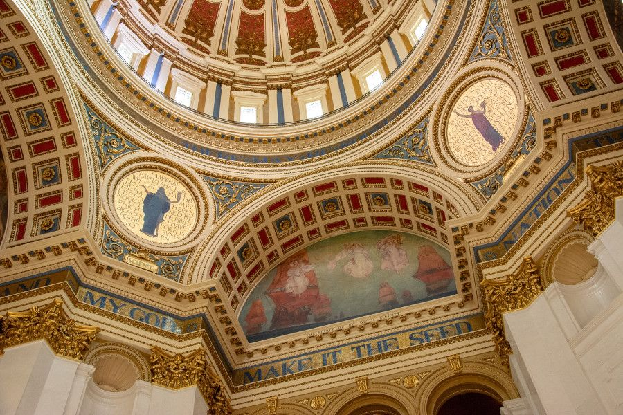 The Rotunda in the Pennsylvania Capitol Building in Harrisburg.