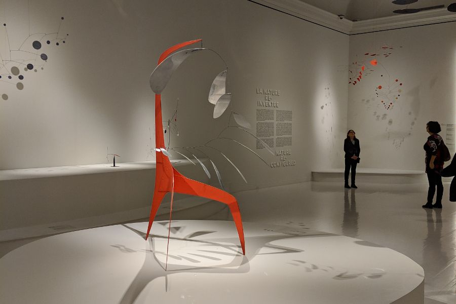 Inside the Alexander Calder: Radical Inventor exhibit at Montreal Museum of Fine Art.