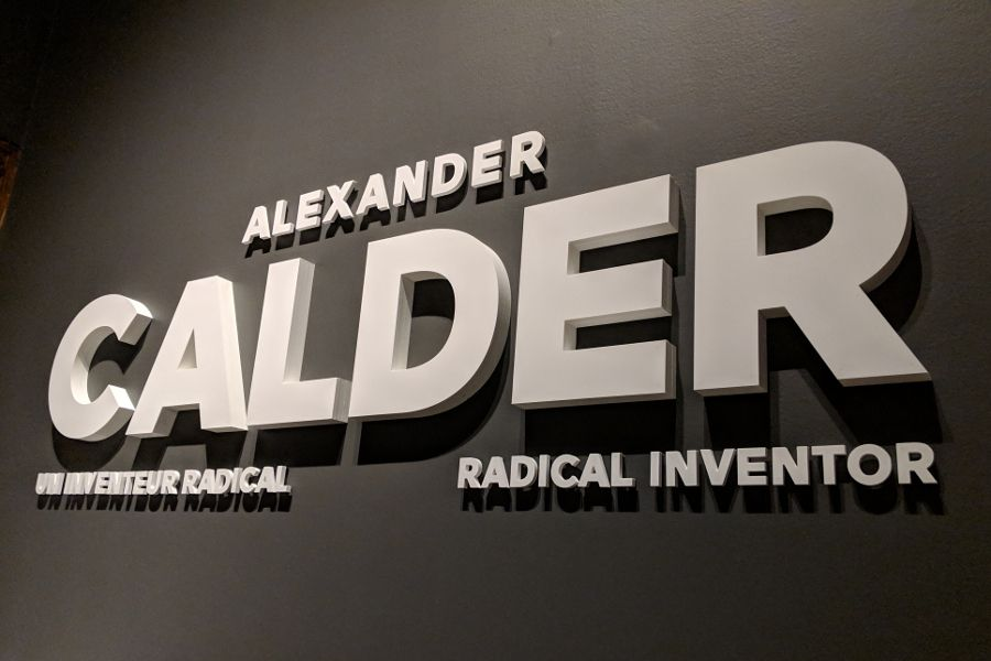 Alexander Calder: Radical Inventor exhibit at the Montreal Museum of Fine Arts.
