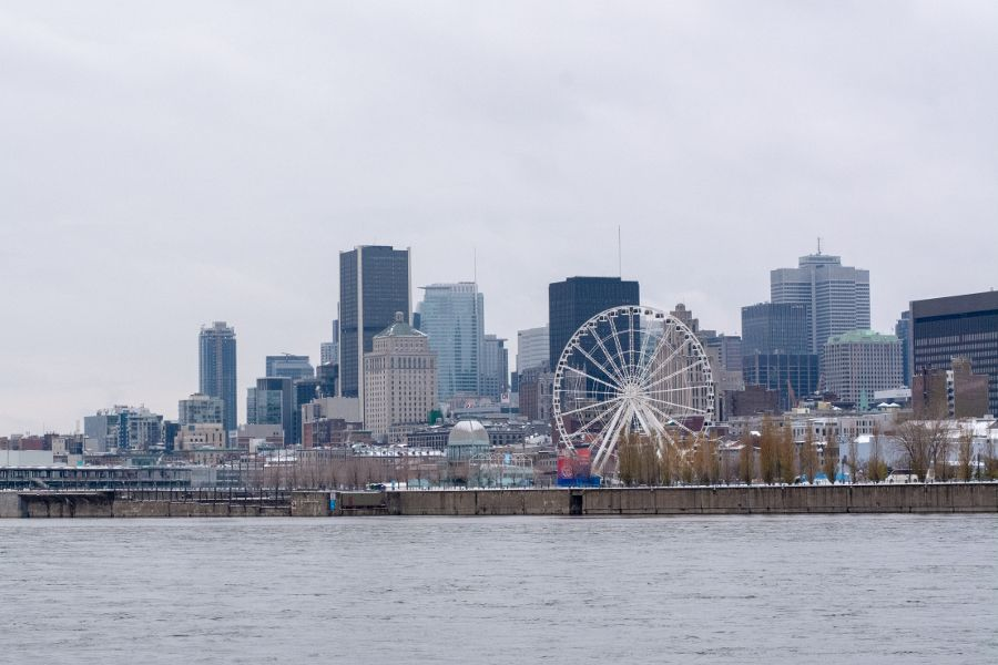 Spend a long winter weekend in Montreal, Canada along the St. Lawrence River waterfront.