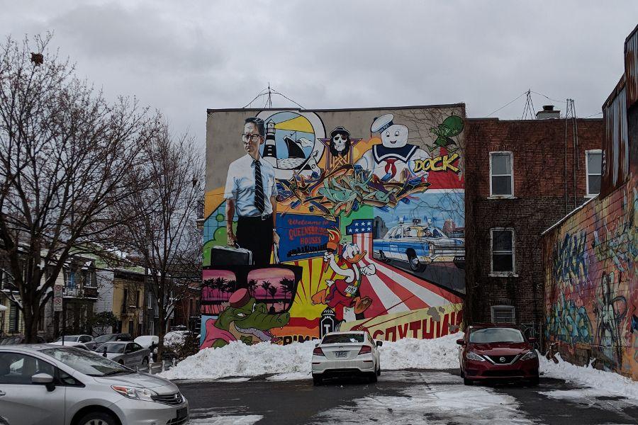 Street art in Montreal's Mont-Royal neighborhood.