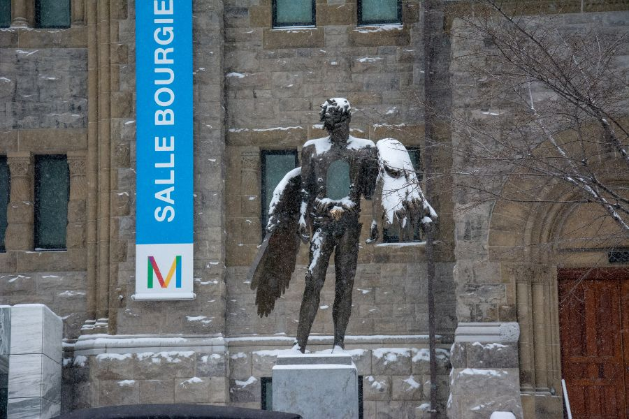 A sculpture outside the Montreal Museum of Fine Arts.