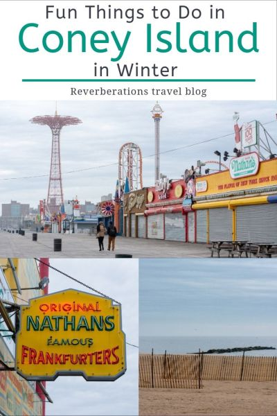 There are lots of fun things to do in Coney Island in winter even with amusement parks closed. Enjoy famous Coney Island, New York with these suggestions! #coneyisland #nyc #newyork