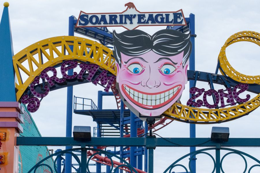 Scream Zone and Soarin Eagle roller coasters at Coney Island is closed for the winter.
