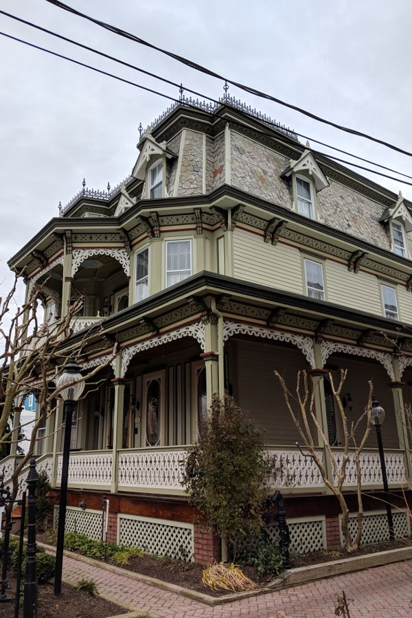 A stately and beautiful Victorian style home in Cape May, New Jersey.