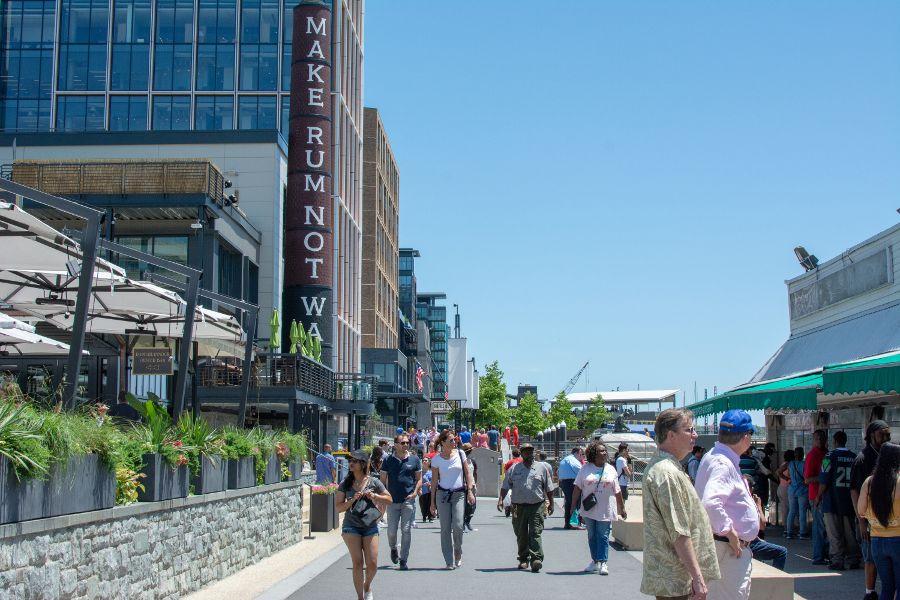 District Wharf sits along the Washington waterfront.