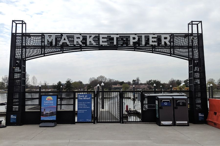 Market Pier connects the Wharf DC with the Potomac River.
