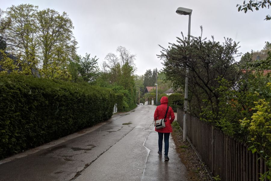 Walking through Herrsching, Germany.