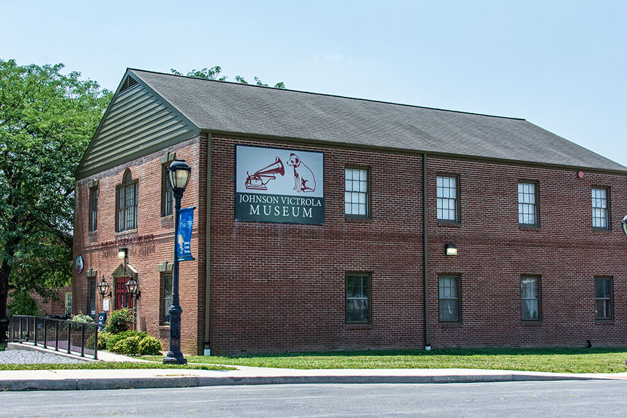 The exterior of Johnson Victrola Museum in Dover, Delaware.