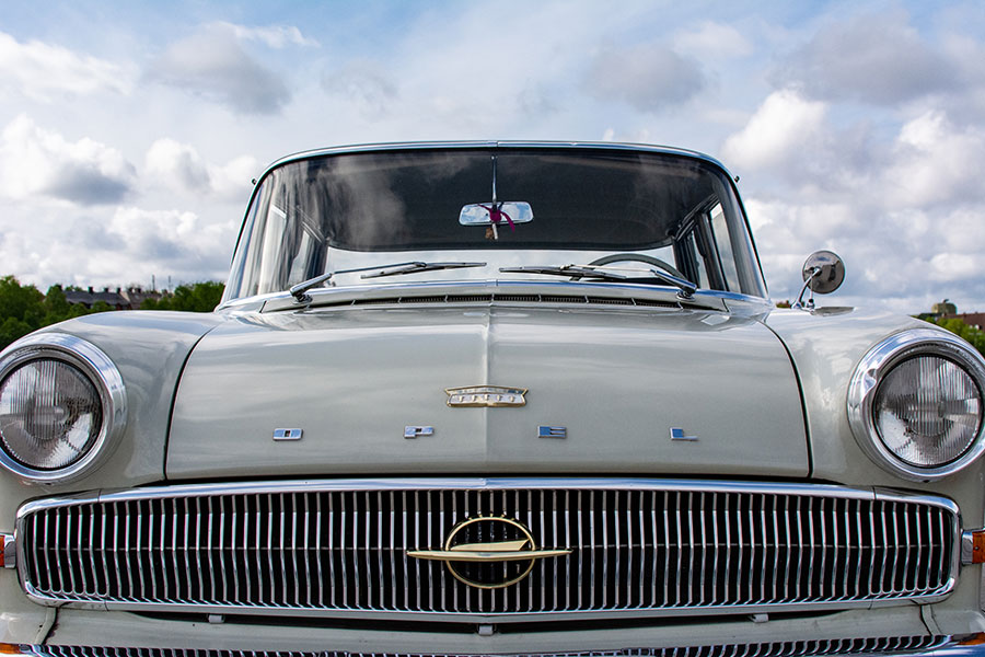 Close up of an Opel on the Wiesn for the ACM Oldtimer-Treffen.