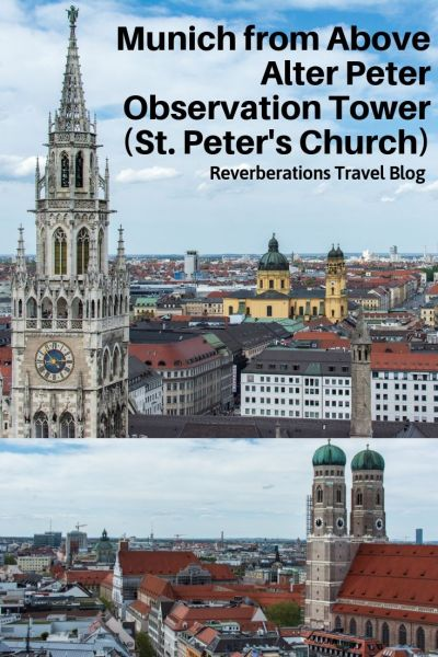 For the best view in Munich, head to St. Peter's Church (Alter Peter). The tower of the city's oldest church offers stunning views all the way to the Alps. #munich #bavaria #germany