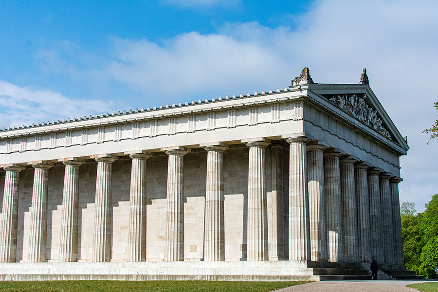Inspired by the Parthenon, Walhalla near Regensburg is a striking and impressive structure.