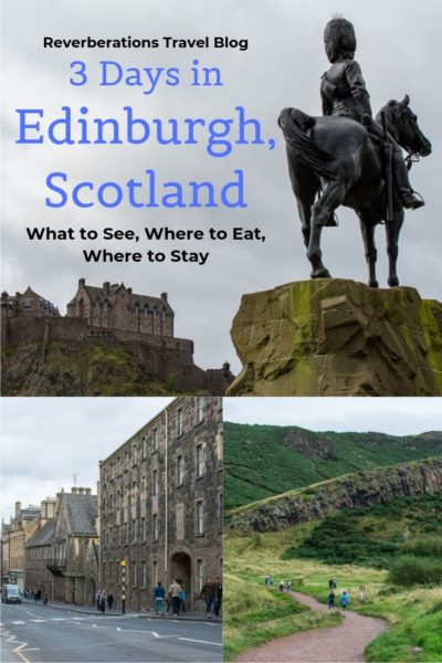 From Arthur's Seat to Edinburgh Castle, here's your itinerary for 3 days in Edinburgh, Scotland. What to do and see, where to eat, and where to stay! #edinburgh #scotland #uk #unitedkingdom
