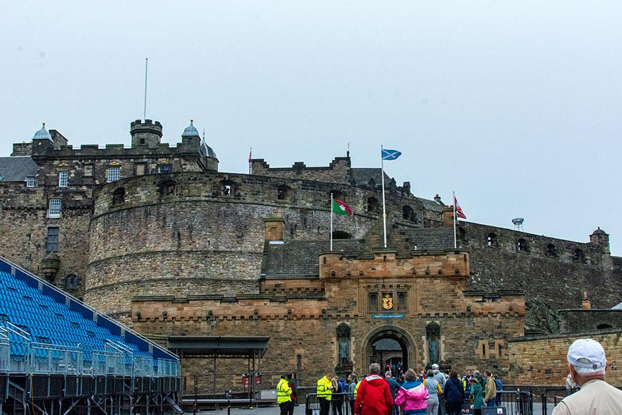The entrance into Edinburgh Castle.