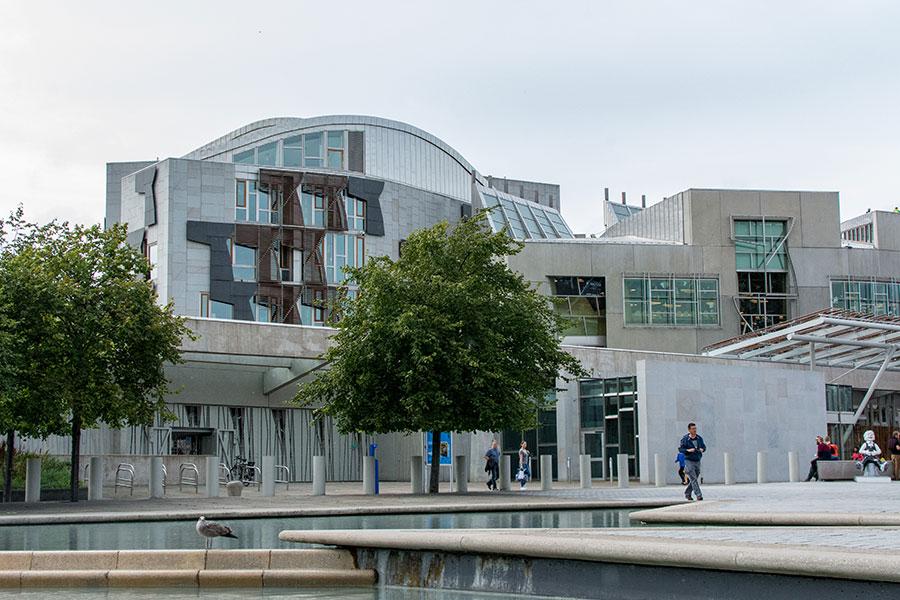 The Scottish Parliament building.