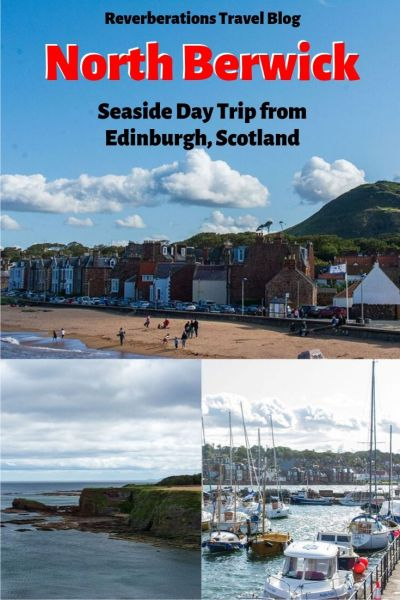 Scottish seaside town of North Berwick is the perfect day trip from Edinburgh with its rocky beaches, cliffs overlooking the sea, and a castle ruins! #northberwick #eastlothian #scotland #uk #unitedkingdom