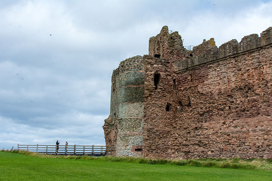 Looking onto the entrance to Tantallon Castle.