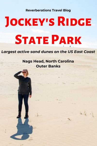 A visit to Jockey's Ridge State Park is a must in North Carolina's Outer Banks. A popular OBX attraction, the 400-acres of sand are awe-inspiring. #obx #outerbanks #jockeysridge #northcarolina #usa