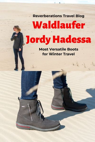 Look fashionable this fall/winter with Waldlaufer boots. The comfortable, well-made Jordy Hadessa boots are the most versatile travel boots. #shoes #boots #travel