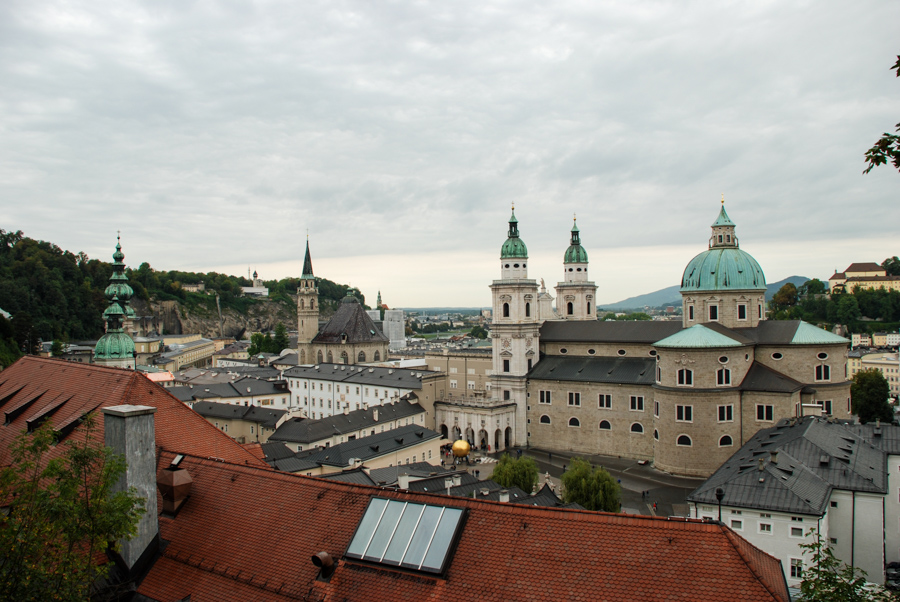Overlooking the city of Salzburg, Austria.
