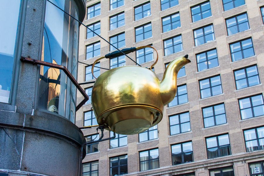The historic Steaming Kettle still hangs in Boston.