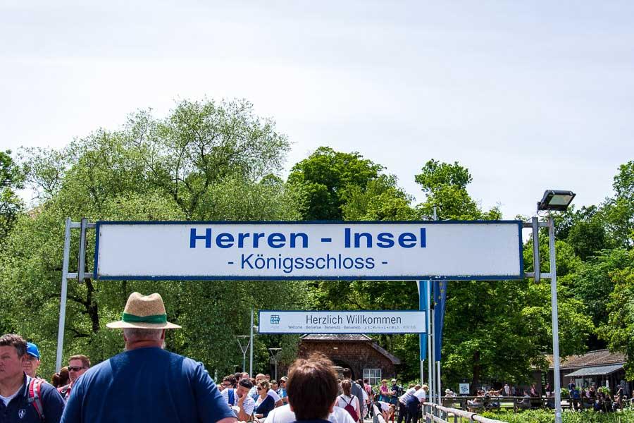 Arriving on the Herreninsel docks.