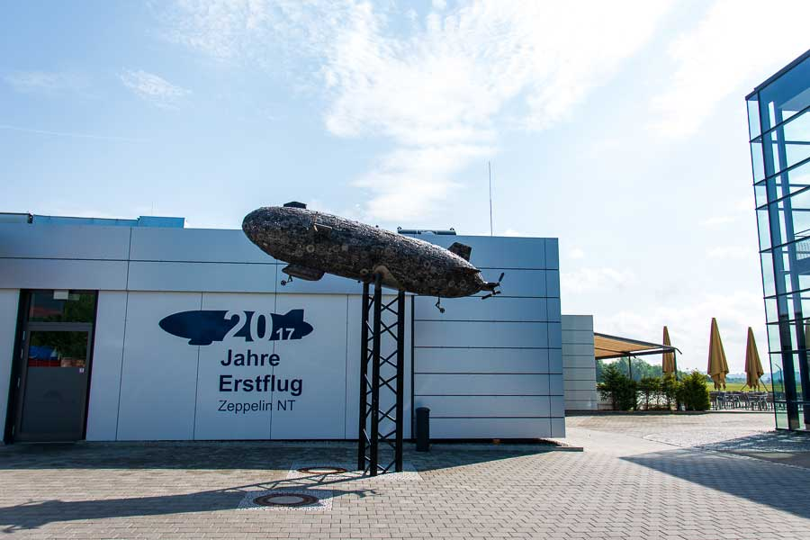 The Zeppelin NT building in Friedrichshafen, Germany.