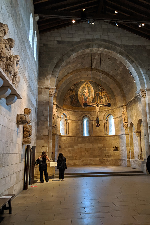Inside the Fuentidueña Apse at the Met Cloisters.
