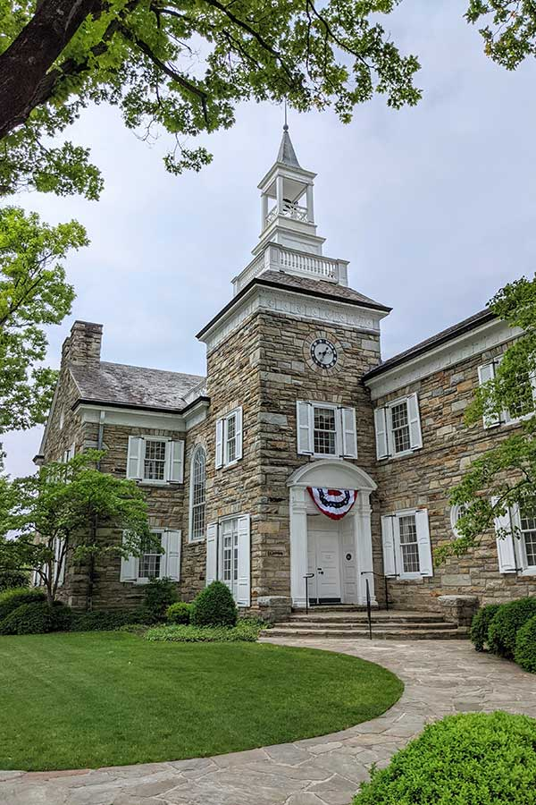 A historic stone building in Downtown Lititz.