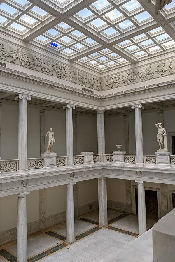 The Hall of Sculpture inside Pittsburgh's Carnegie Museum of Art.