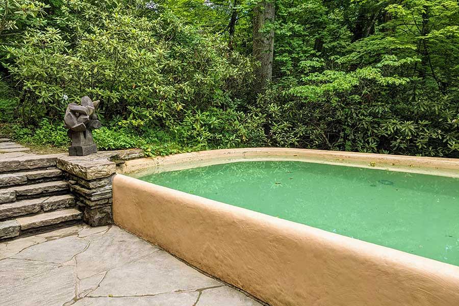 The swimming pool at Fallingwater.